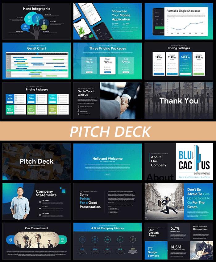 BluCactus Diseño profesional de pitch deck. Qué es un pitch deck?