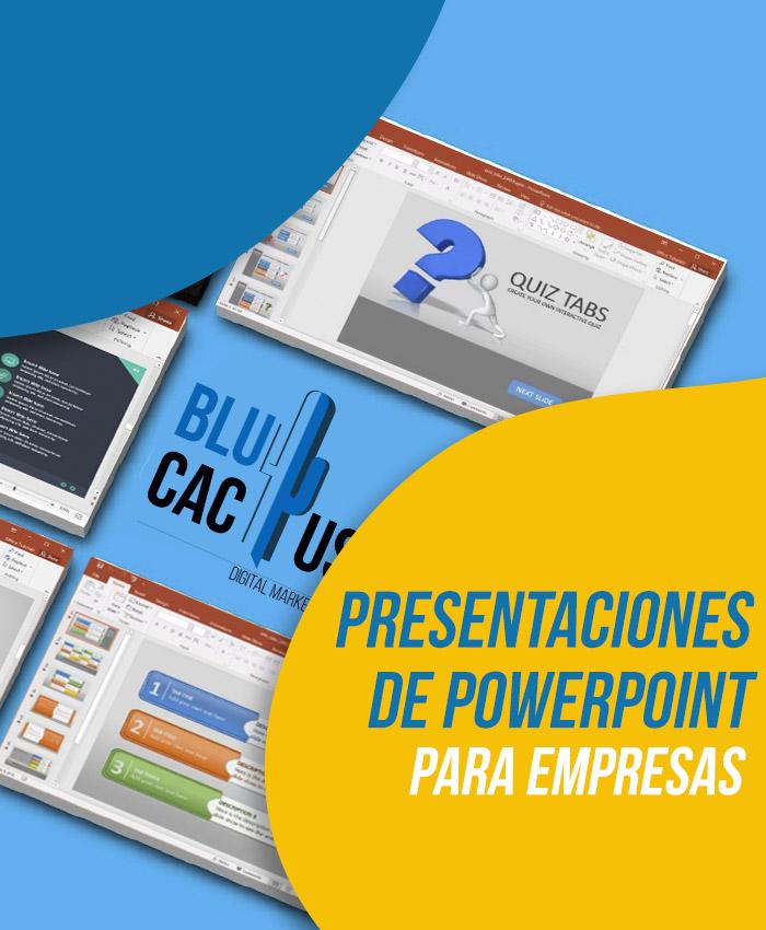 BluCactus Diseño de Presentaciones de PowerPoint para empresas