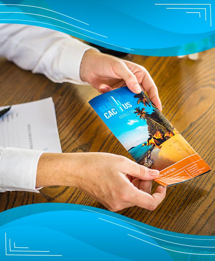 BluCactus - Servicios Diseño gráfico Diseño de material promocional impreso como folletos dípticos trípticos flyers