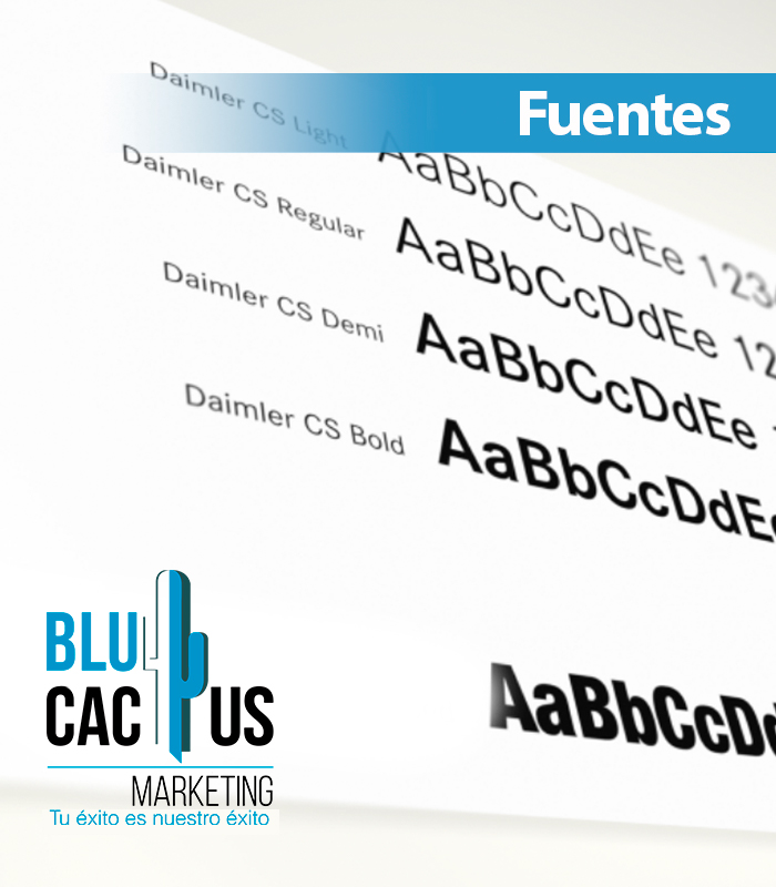 Blucactus Fuentes y Tipografías