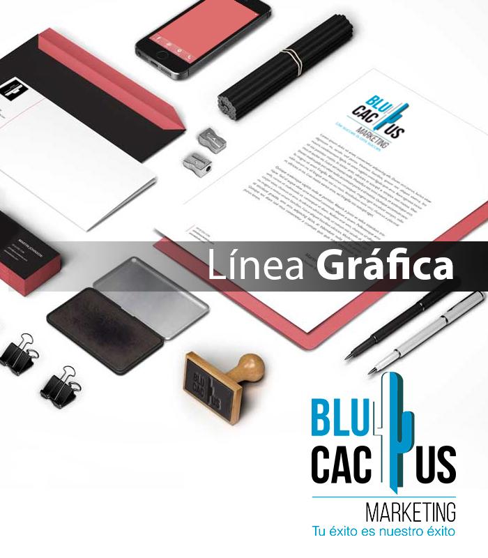 Blucactus Servicios Identidad corporativa Línea gráfica