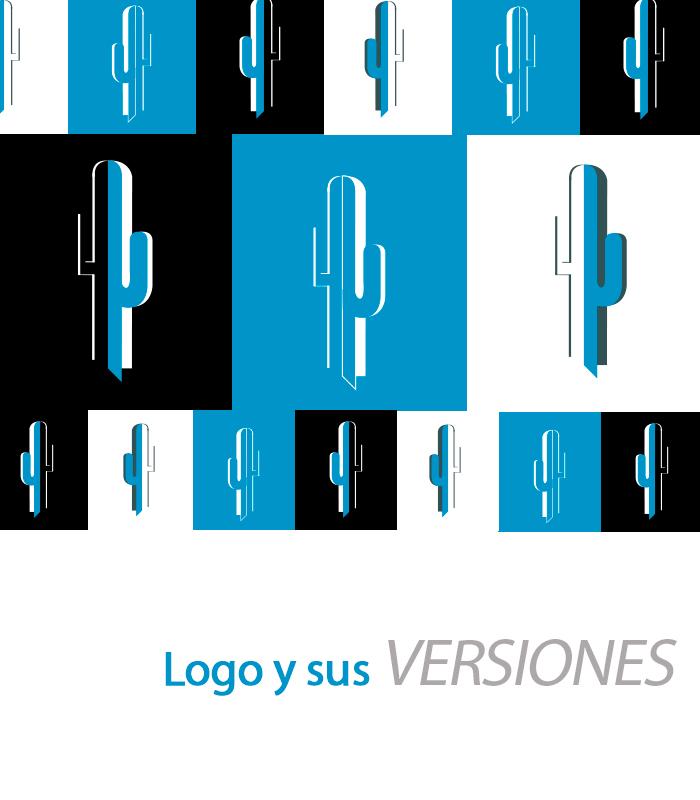 Blucactus Servicios Identidad corporativa Logo y sus versiones