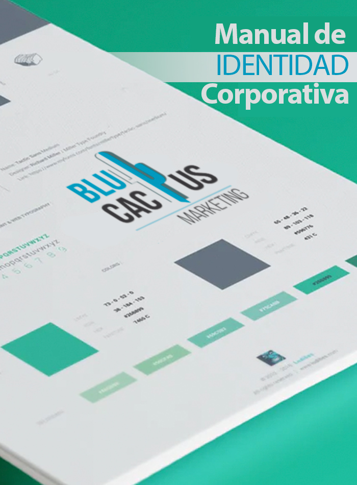 Blucactus Manual de identidad corporativa