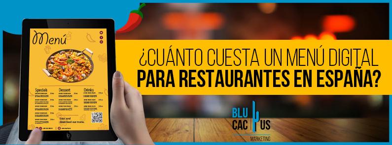 BluCactus - ¿Cuánto cuesta un Menú Digital para Restaurantes? - TITULO