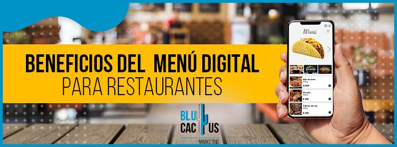 BluCactus - Beneficios del menú digital para restaurantes - titulo
