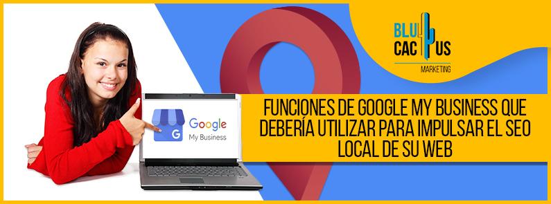 BluCactus - funciones de Google My Business - titulo